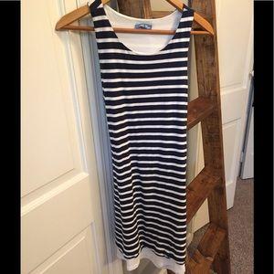 Cotton & Linen Striped Dress